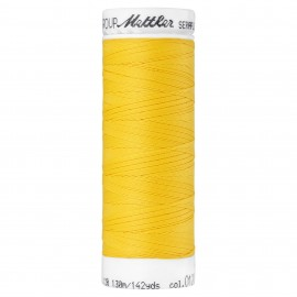 Bobine de fil élastique Mettler Seraflex 130m - N°120 - jaune soleil d'été