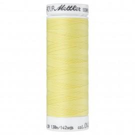 Bobine de fil élastique Mettler Seraflex 130m - N°141 - jaune pastel