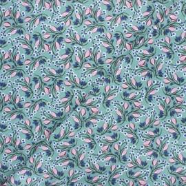 Tissu coton cretonne Selyn - sarcelle x 10cm