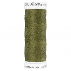 Elastic thread bobbin Mettler Seraflex 130m - N°420 - olive green