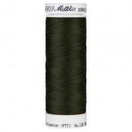 Elastic thread bobbin Mettler Seraflex 130m - N°554 - military green