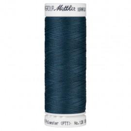 Bobine de fil élastique Mettler Seraflex 130m - N°485 - bleu paon