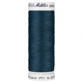 Elastic thread bobbin Mettler Seraflex 130m - N°485 - peacock blue
