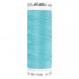 Bobine de fil élastique Mettler Seraflex 130m - N°408 - bleu aqua