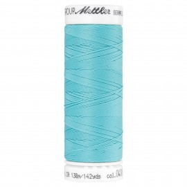 Elastic thread bobbin Mettler Seraflex 130m - N°408 - aqua blue