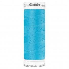 Elastic thread bobbin Mettler Seraflex 130m - N°409 - azure blue
