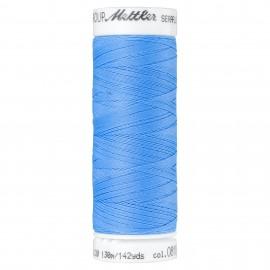 Elastic thread bobbin Mettler Seraflex 130m - N°818 - bleuet
