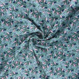 Tissu viscose Selyn - sarcelle x 10cm