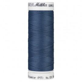 Elastic thread bobbin Mettler Seraflex 130m - N°698 - steel blue