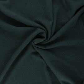 Plain linen and viscose fabric - pine green x 10 cm