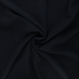 Plain linen and viscose fabric - midnight blue x 10 cm