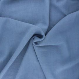 Plain linen and viscose fabric - light blue x 10 cm