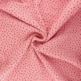 Tissu double gaze de coton Poppy Shapes B - rose clair x 10cm