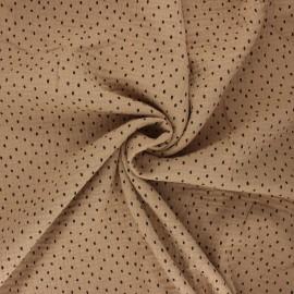 Tissu double gaze de coton Poppy Shapes B - sable x 10cm