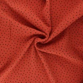Tissu double gaze de coton Poppy Shapes B - rouille x 10cm