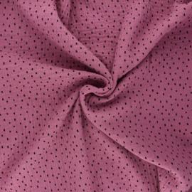 Tissu double gaze de coton Poppy Shapes B - figue x 10cm