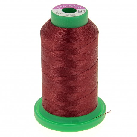Cône de fil à broder ISACORD40 1000 m - rouge amarante