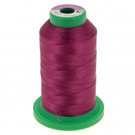 Cone of embroidery thread ISACORD40 1000m - purple red