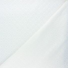 Embroidered double gauze fabric - off-white Semilia x 10cm