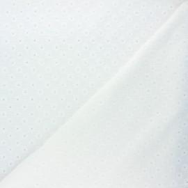 Tissu double gaze de coton brodé Semilia - blanc cassé x 10cm