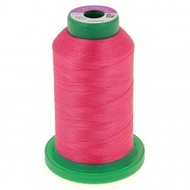 Cone of embroidery thread ISACORD40 1000m - neon pink