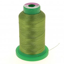 Cone of embroidery thread ISACORD40 1000m - moss green
