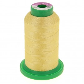 Cone of embroidery thread ISACORD40 1000m - pastel yellow
