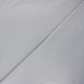 Tissu double maille ajourée - gris clair x 10cm