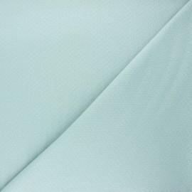 Tissu double maille ajourée - vert sauge x 10cm