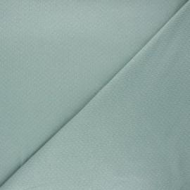 Tissu double maille ajourée - eucalyptus x 10cm