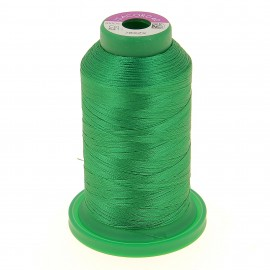 Cone of embroidery thread ISACORD40 1000m - bright green