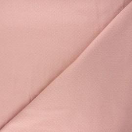 Tissu double maille ajourée - eau de rose x 10cm