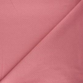 Tissu double maille ajourée - bois de rose x 10cm