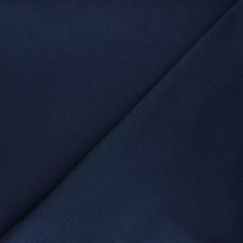 Tissu double maille ajourée - bleu nuit x 10cm