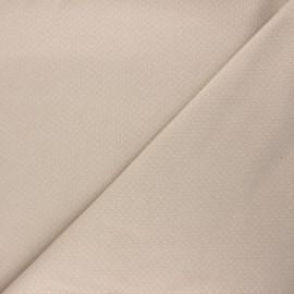 Tissu double maille ajourée - sable x 10cm
