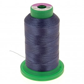 Cone of embroidery thread ISACORD40 1000m - grey blue