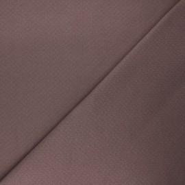 Tissu double maille ajourée - taupe x 10cm