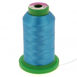 Cone of embroidery thread ISACORD40 1000m - bright blue