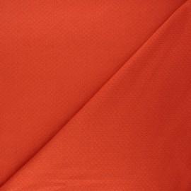 Tissu double maille ajourée - carotte x 10cm