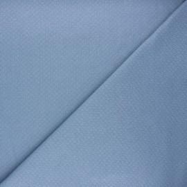 Tissu double maille ajourée - bleu clair x 10cm