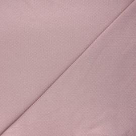 Tissu double maille ajourée - vieux rose x 10cm