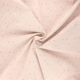 Poplin cotton fabric - light pink Mi corazon x 10cm