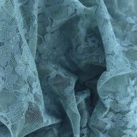 Tissu Dentelle Fleurie opaline x 10cm