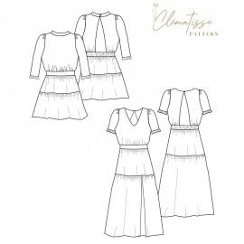 Dress sewing pattern - Clématisse Pattern Enola
