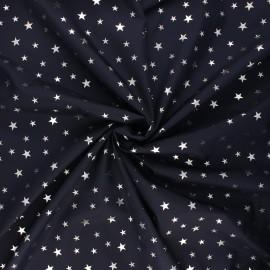 Tissu toile parachute Ciel étoilé - bleu nuit x 10cm