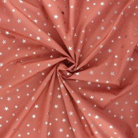 Tissu toile parachute Ciel étoilé - bois de rose x 10cm