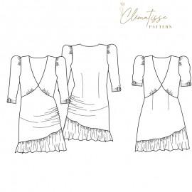 Dress sewing pattern - Clématisse Pattern Emma