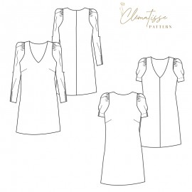 Dress sewing pattern - Clématisse Pattern Alice