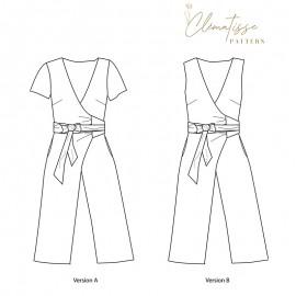 Jumpsuit sewing pattern - Clématisse Pattern Mina