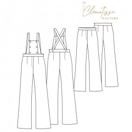 Overalls/Pants sewing pattern - Clématisse Pattern Miky
